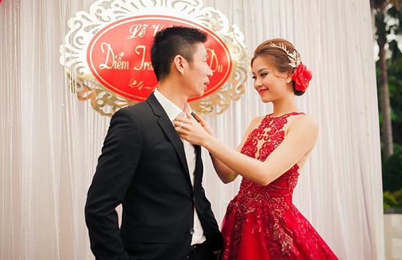 Đám cưới ngập tràn không khí Giáng sinh của Á hậu Diễm Trang 10