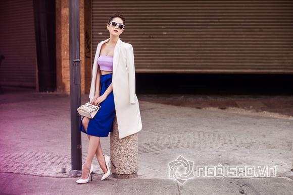Ngoc Trinh streetwear winter day 1