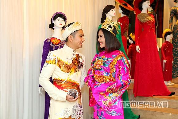 Vợ chồng Vân Trang lái xế hộp tiền tỷ đi thử trang phục cưới 5