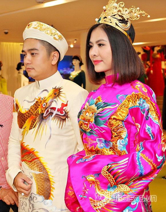 Vợ chồng Vân Trang lái xế hộp tiền tỷ đi thử trang phục cưới 0