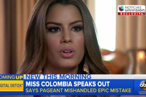 Hoa hậu hụt Colombia,Ariadna Gutierrez,Hoa hậu hụt Colombia chỉ trích gay gắt Miss Universe