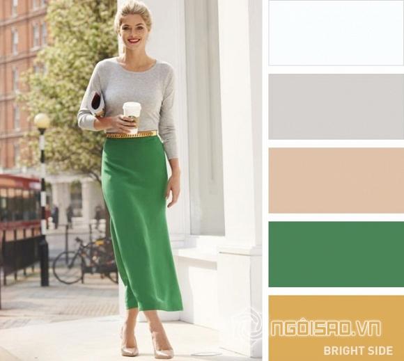 bảng màu kết hợp trang phục