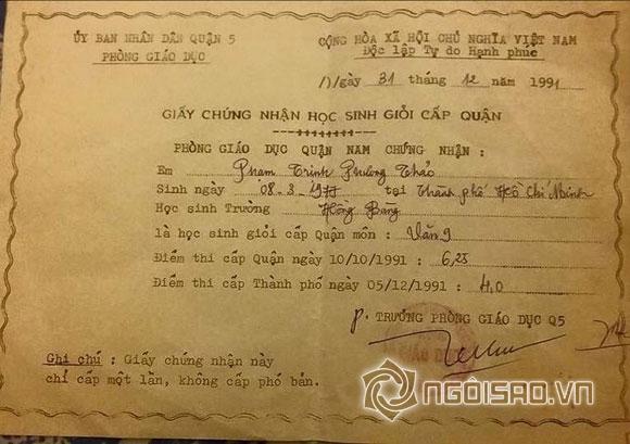 Sao Việt và những lần khoe giấy khen đáng ngưỡng mộ 9