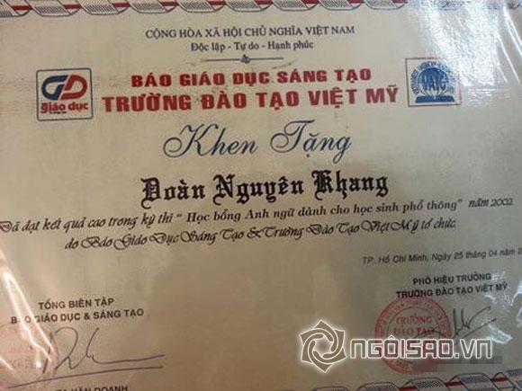 Sao Việt và những lần khoe giấy khen đáng ngưỡng mộ 13