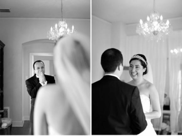 khi đàn ông lần đầu nhìn thấy cô dâu của mình, hình ảnh nhìn thấy vợ mặc áo cưới, hình ảnh cô dâu chú rể