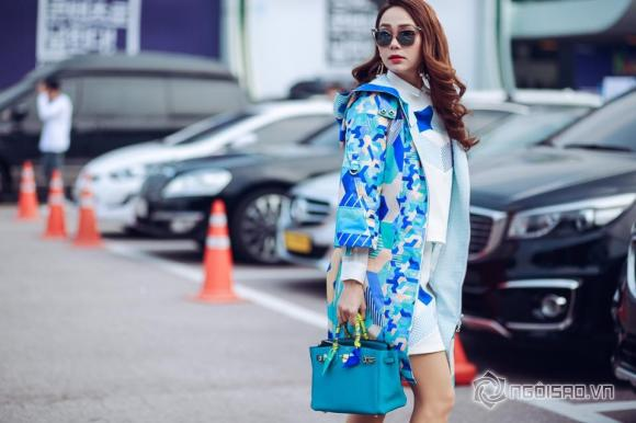 Minh Hằng , ca sĩ Minh Hằng, ca sĩ Minh Hằng, Minh Hằng tươi rói tại tuần lễ thời trang ở Hàn Quốc, thời trang của Minh Hằng
