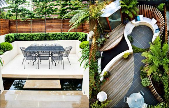 thiet ke goc san 1 ngoisao.vn Chia sẻ 17 ý tưởng tuyệt vời thiết kế góc sân xanh trong nhà