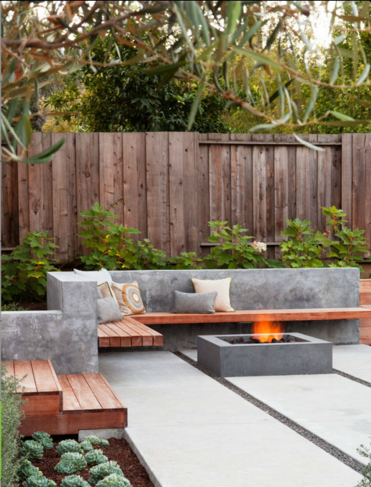 thiet ke goc san 14 ngoisao.vn Chia sẻ 17 ý tưởng tuyệt vời thiết kế góc sân xanh trong nhà