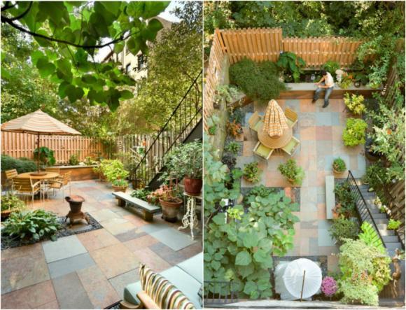 thiet ke goc san 2 ngoisao.vn Chia sẻ 17 ý tưởng tuyệt vời thiết kế góc sân xanh trong nhà