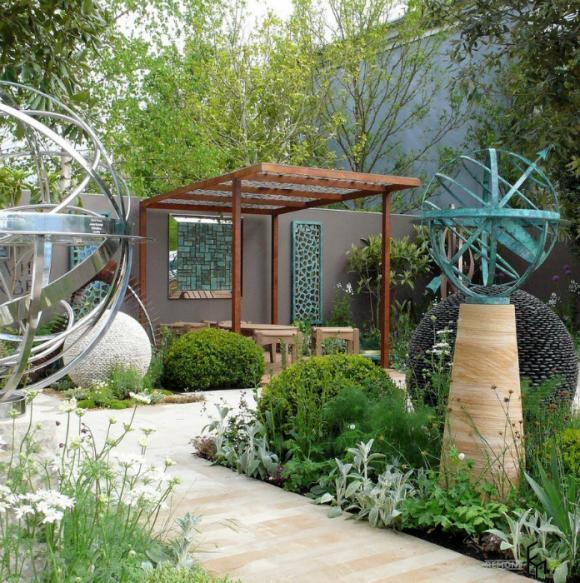 thiet ke goc san 8 ngoisao.vn Chia sẻ 17 ý tưởng tuyệt vời thiết kế góc sân xanh trong nhà