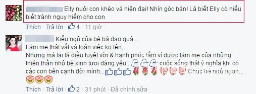 Elly Trần chăm con cực khéo 8