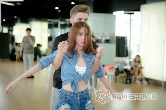 Fan đứng ngồi không yên khi xem Ngọc Trinh lần đầu tập nhảy 9