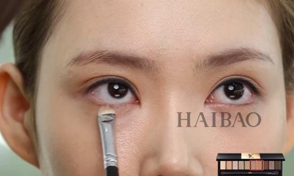 Trang điểm mắt màu cam 6