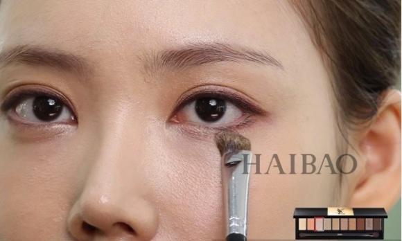 Trang điểm mắt màu cam 9