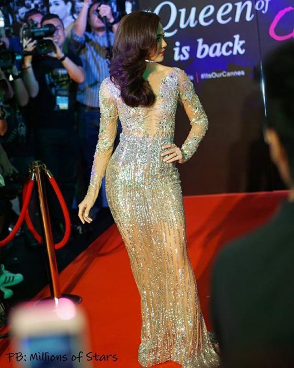 Mỹ nhân Thái Lan Chompoo Araya 'đốt mắt' người nhìn với váy xuyên thấu tại sự kiện 13