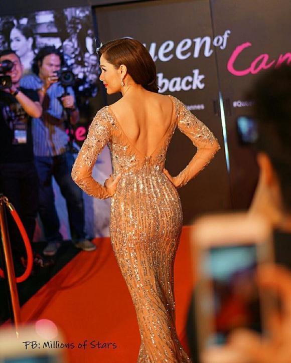 Mỹ nhân Thái Lan Chompoo Araya 'đốt mắt' người nhìn với váy xuyên thấu tại sự kiện 10