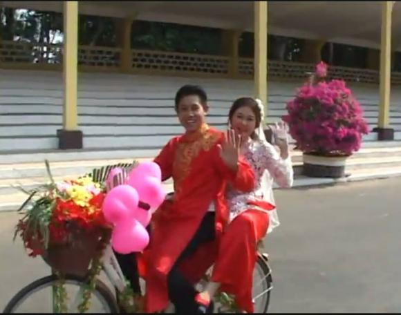Màn rước dâu độc đáo bằng xe đạp trong đám cưới ở Tây Ninh 2