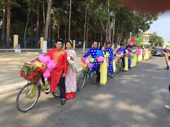 Màn rước dâu độc đáo bằng xe đạp trong đám cưới ở Tây Ninh 7