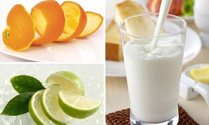 sữa, sữa làm đẹp, làm đẹp da, công thức trị mụn