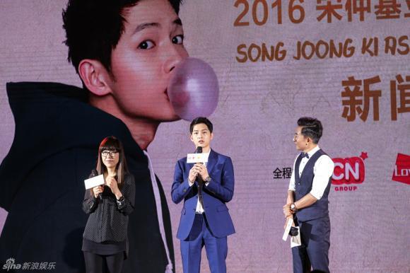 Song Joong Ki, diễn viên Song Joong Ki , Hậu duệ của mặt trời, Song Joong Ki họp fan, Song Joong Ki họp fan tại Bắc Kinh, sao Hoa ngữ, sao Trung, sao Hàn, sao kpop