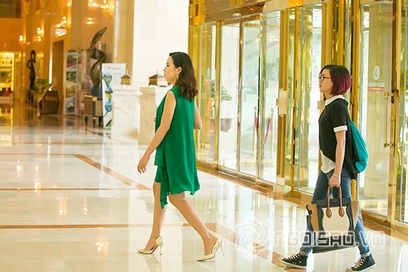 Lưu Hương Giang thon gọn sau một tháng sinh con 0