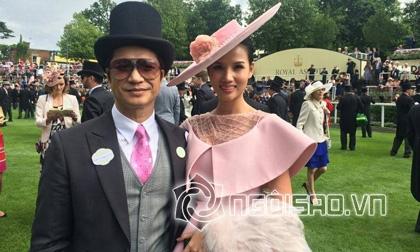 Dustin Nguyễn, vợ chồng Dustin Nguyễn, cuộc sống của Dustin Nguyễn, Dustin Nguyễn đi xem đua ngựa, đám cưới Dustin Nguyễn, sao việt