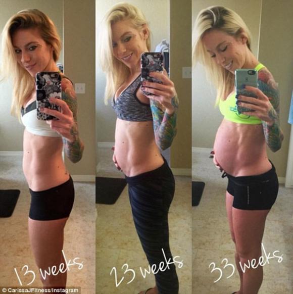 mang thai, mang thai cuối thai kỳ, cơ bụng, cơ bụng săn chắc, bụng săn chắc khi mang thai, chăm sóc sức khỏe khi mang thai