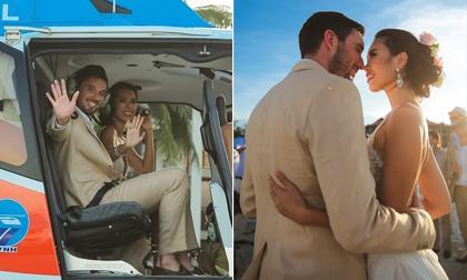 Hà Anh, chồng Hà Anh, đám cưới Hà Anh, Hà Anh rước dâu bằng trực thăng, chồng Hà Anh giống soái ca, sao việt