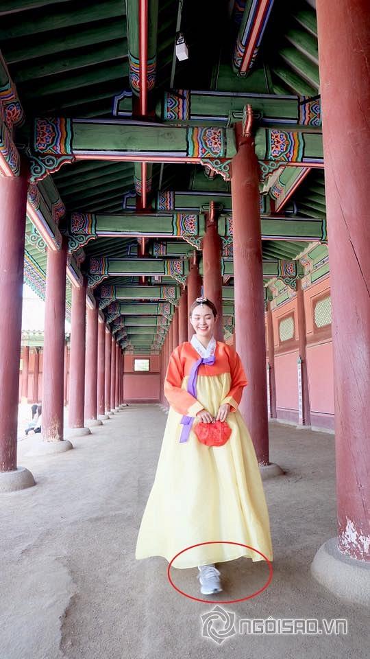 Minh Hằng, ca sĩ Minh Hằng, Minh Hằng mặc hanbok, Minh Hằng hóa gái Hàn, ảnh mới Minh Hằng, sao việt