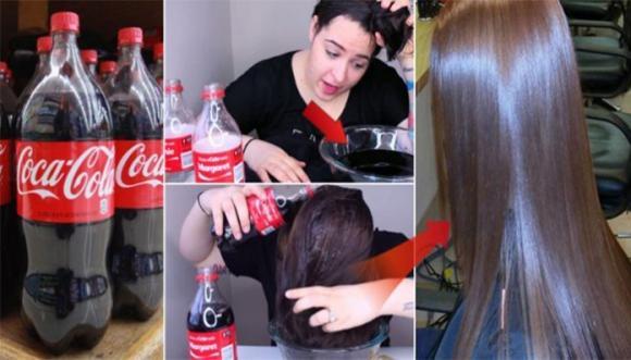 cocacola, làm mượt tóc với cocalcola, tóc xoăn, tóc mềm mượt, tóc vào nếp, bồng bềnh, gội đầu bằng cocacola, làm đẹ, tóc đẹp