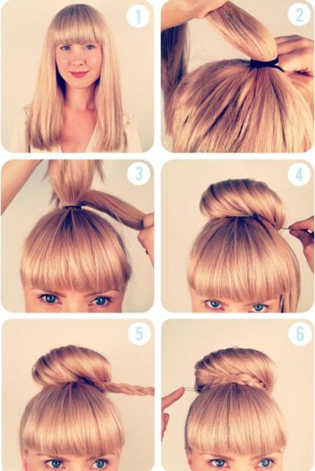 kiểu tóc chỉ mất 3 phút thực hiện 0