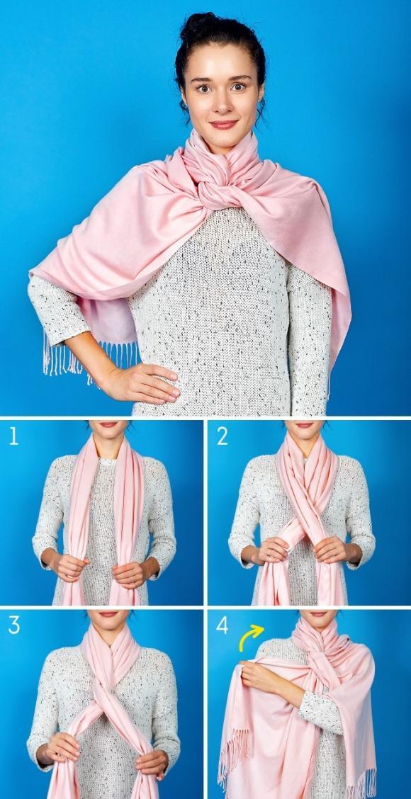 8 cách để khoàng khăn đẹp và sáng tạo