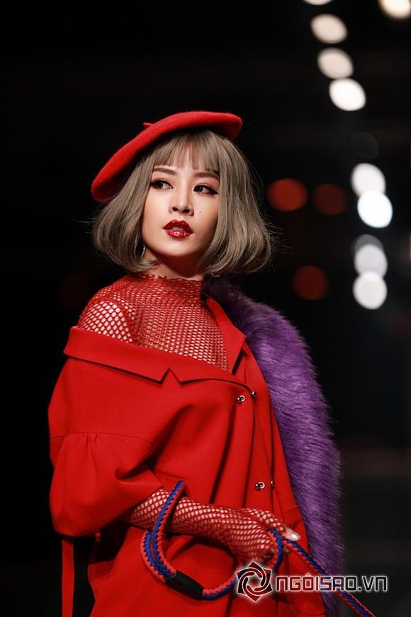 Hotgirl chi pu,diễn viên chi pu,chi pu dắt cún lên sàn diễn