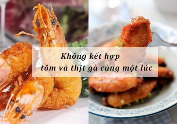 món kị nhau, thịt gà kị gì, món kị với gà, mon an ki nhau