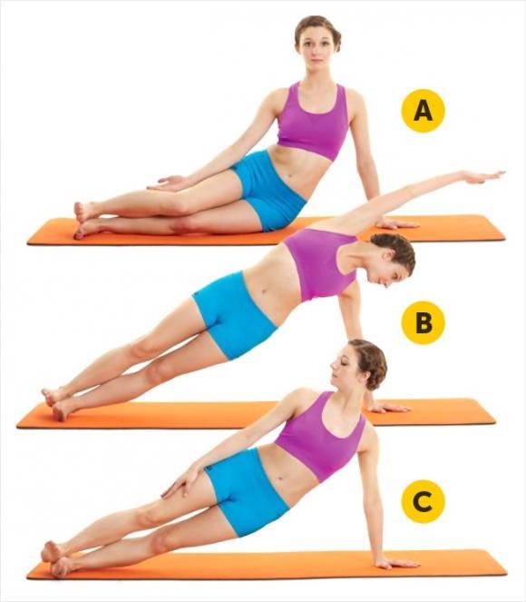bài tập eo, thể dục, bài tập bụng, bụng săn chắc, các bài giảm eo