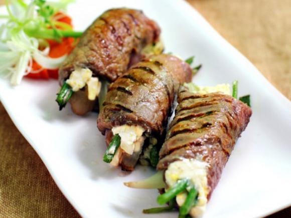 Bò cuộn phô mai chiên, món ngon chinh phục cả những người khó tính