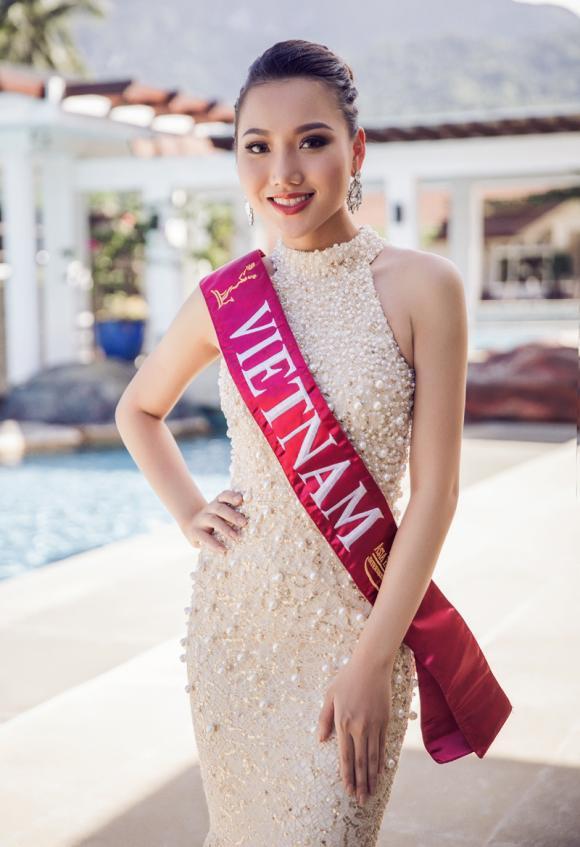 Hoàng Thu Thảo tiết lộ váy dạ hội chung kết Hoa hậu châu Á Thái Bình Dương