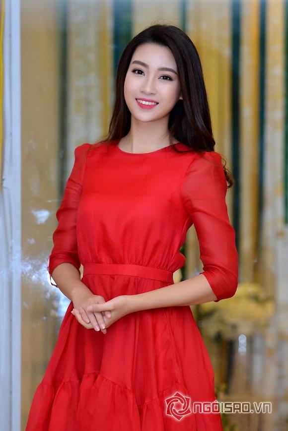 Hoa hậu Mỹ Linh váy đỏ nổi bật 5