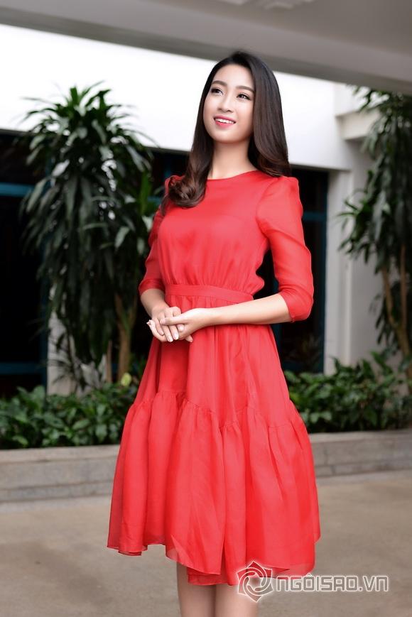 Hoa hậu Mỹ Linh váy đỏ nổi bật 8