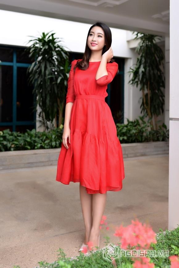 Hoa hậu Mỹ Linh váy đỏ nổi bật 7