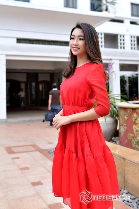 Hoa hậu Mỹ Linh váy đỏ nổi bật 2