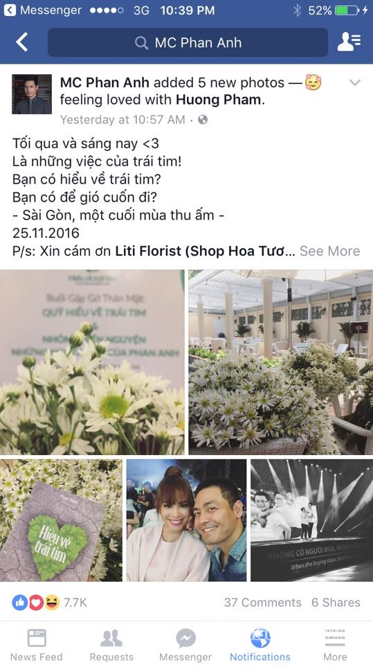 MC Phan Anh khóa Facebook 2
