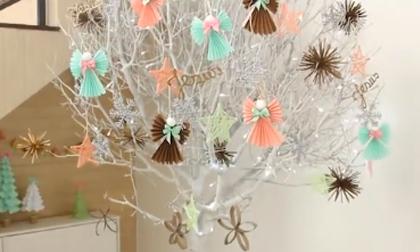 Cách cắt bông tuyết bằng giấy, bông tuyết bằng giấy, Trang trí giáng sinh, Giáng sinh 2016, Clip hot