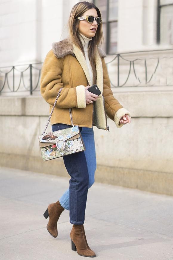'Công thức' mặc đẹp với denim ngày lạnh