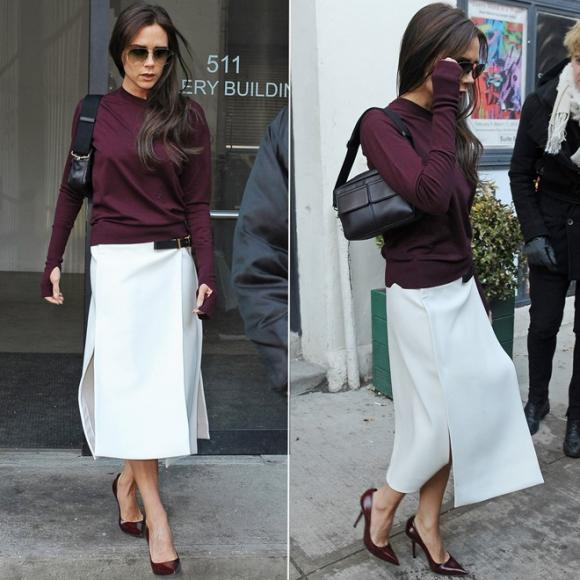 Những lần gây bất ngờ khi diện váy áo màu sắc điệu đà của Victoria Beckham