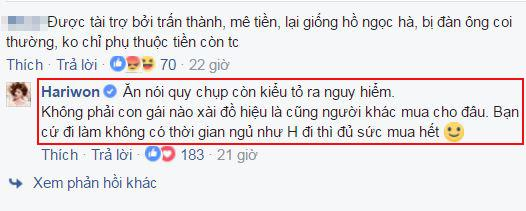 Hari Won ăn bám Trấn Thành  0