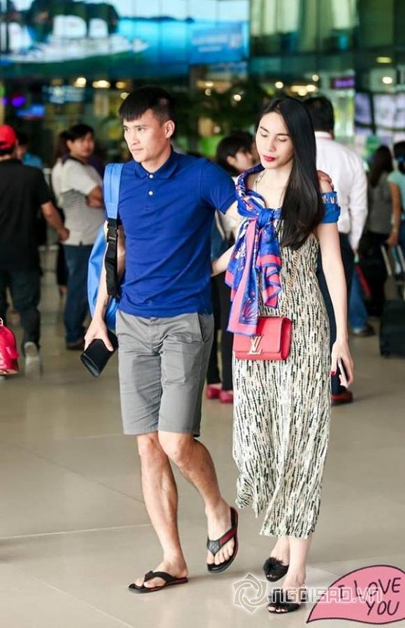 Vợ chồng Thủy Tiên buồn bã, âm thầm rời sân bay 4