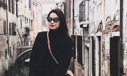 Phạm Hương sành điệu trên đường phố Italia