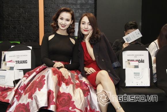 Ca sĩ Nhật Thủy hội ngộ Lã Thanh Huyền tại show diễn của Den Nguyen