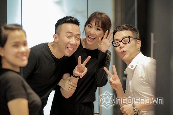 Không cần mệt mỏi giấu diếm, Trấn Thành và Hari Won bung xoã hình hậu trường thử đồ cưới